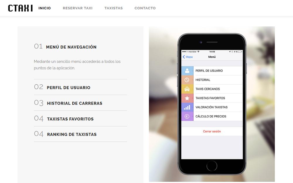 Diseño página web - CTaxi