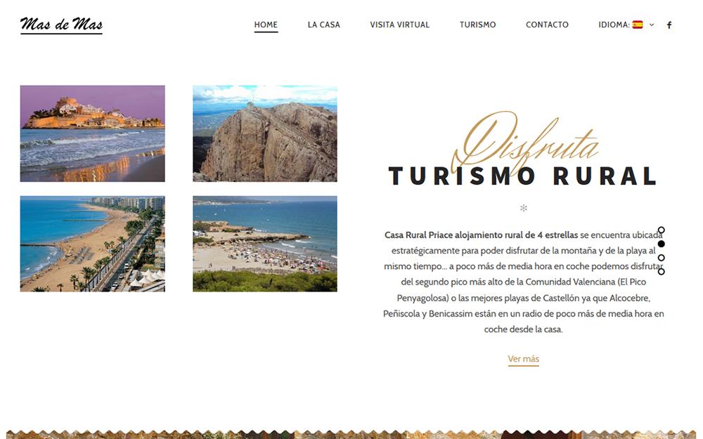 Diseño página web - Mas de Mas