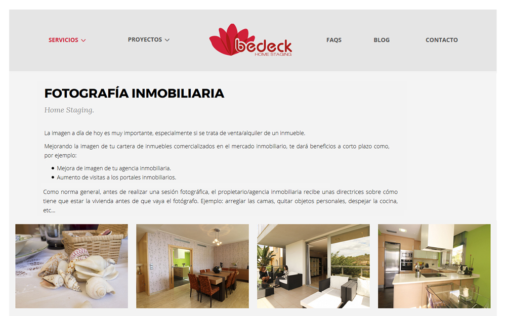 Diseño página web - Home Staging