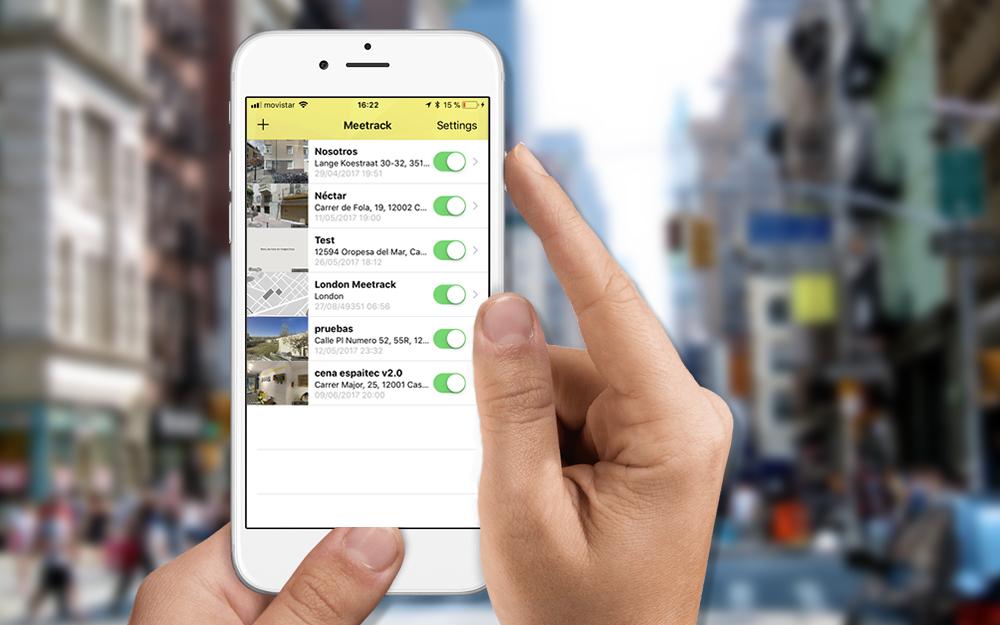 Meetrack - App iPhone