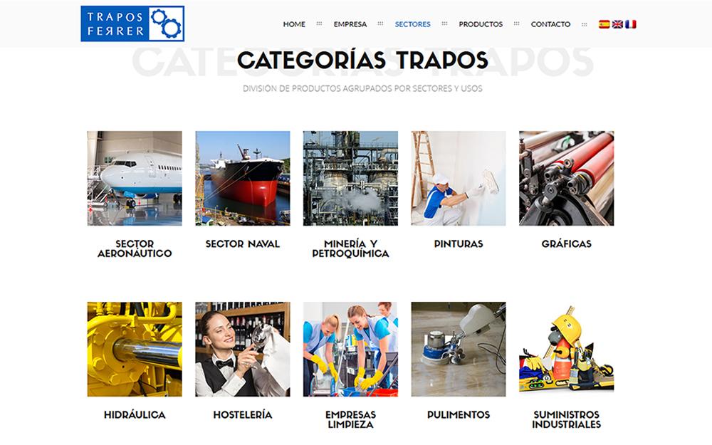 Diseño página web - Trapos Ferrer