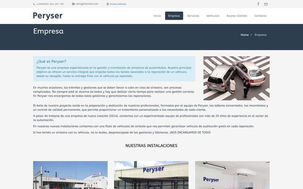 Diseño página web - Peryser