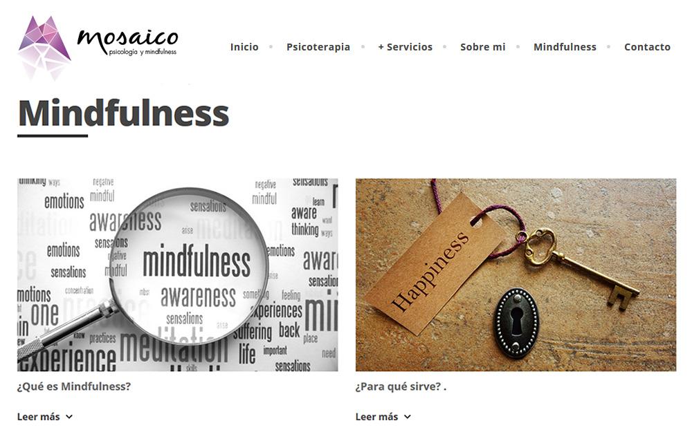 Diseño página web - Mosaico