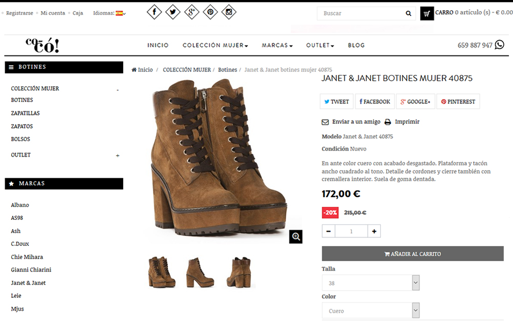 Tienda online - Coco