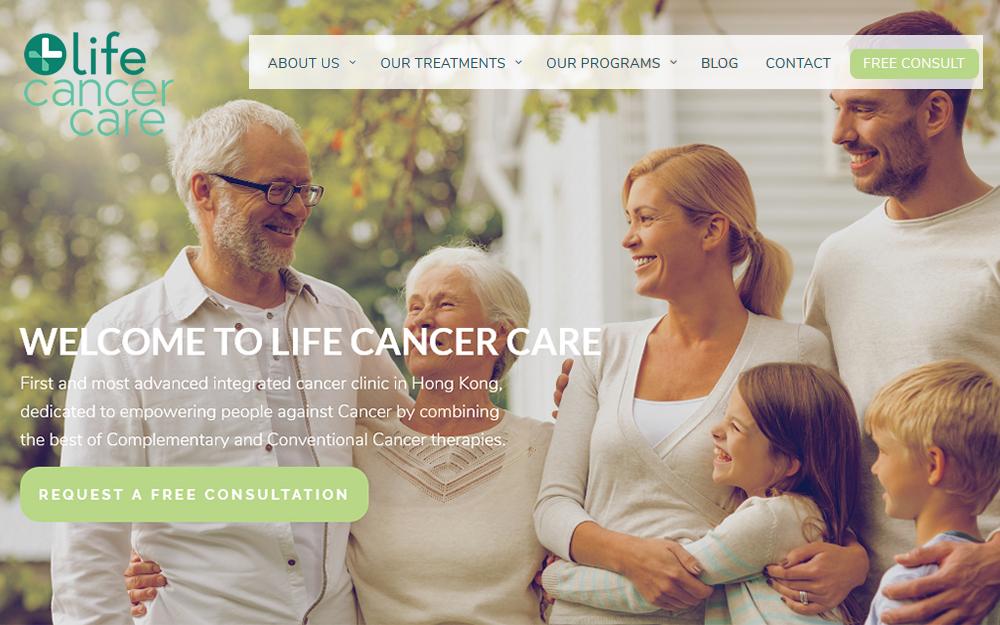 Diseño página web - Life Clinic Cancer