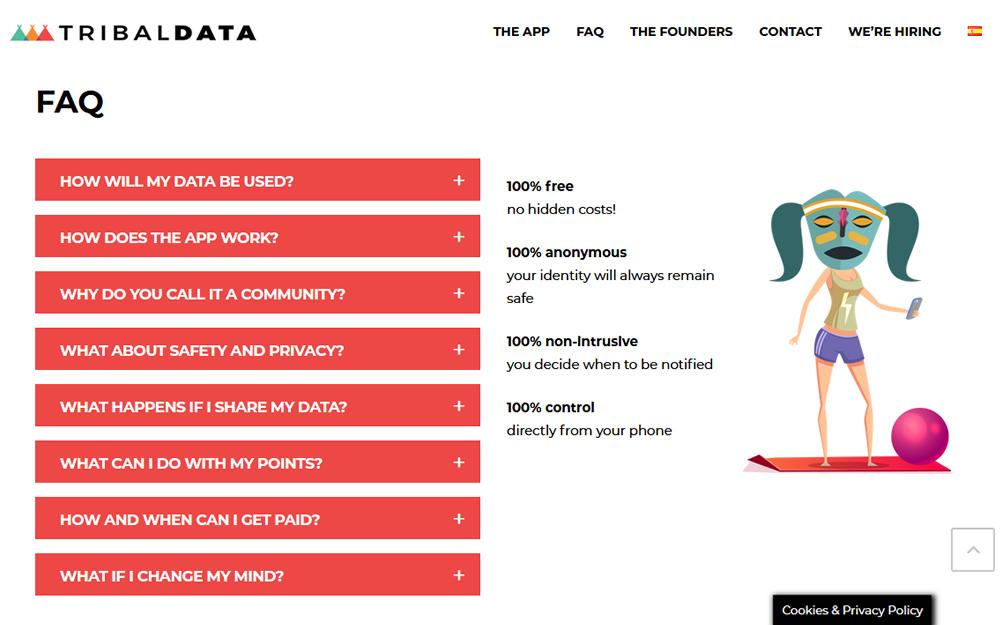 Diseño página web - TribalData