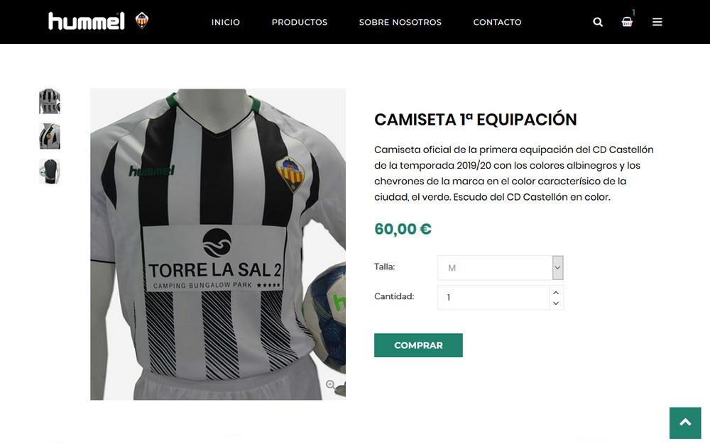 Diseño tienda online - CD Castellón