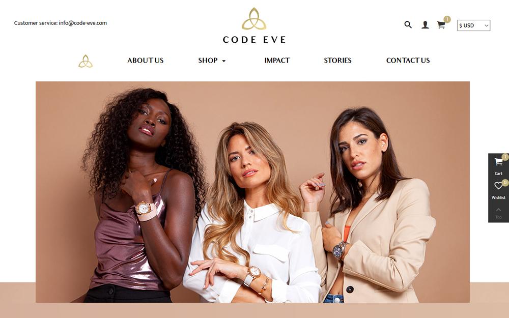 Diseño tienda online - Code Eve