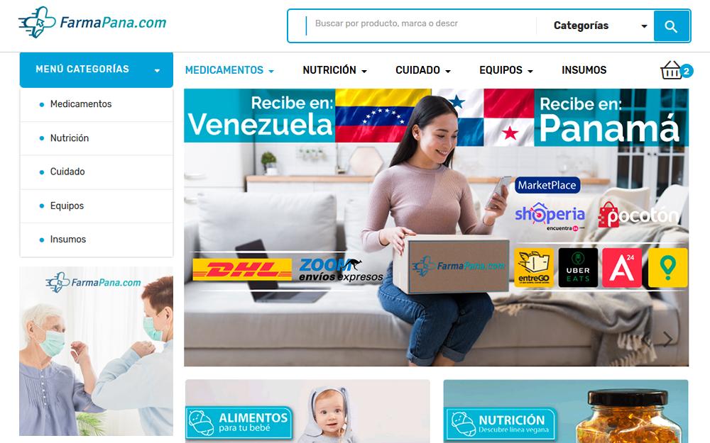 Diseño tienda online - Farmapana