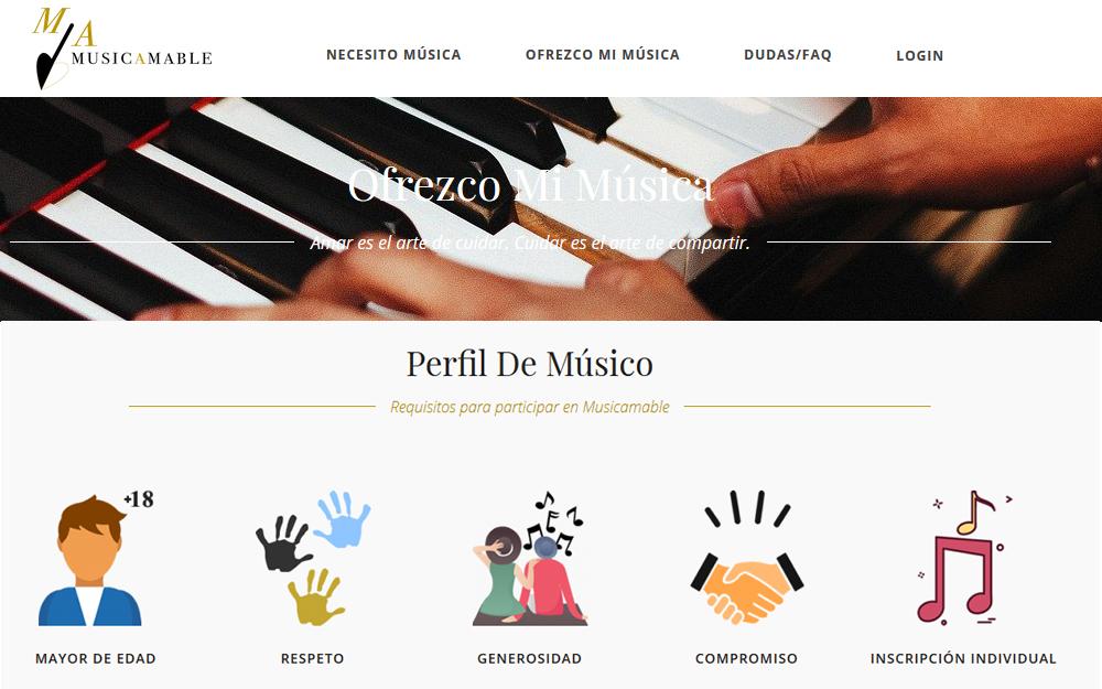 Diseño página web - MusicAmable
