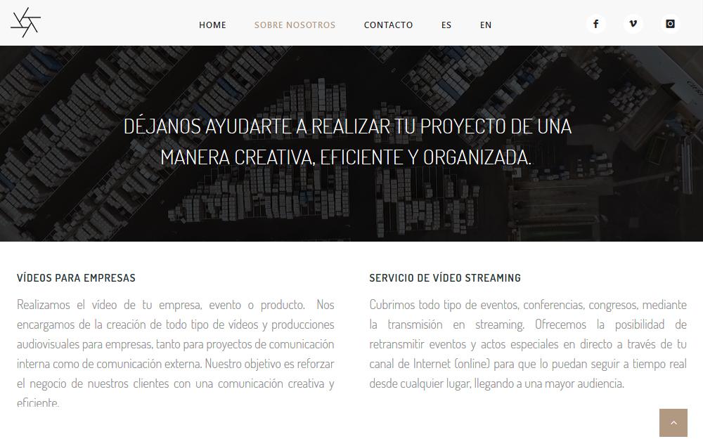 Diseño página web - Micrea
